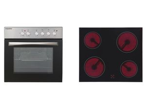 respekta Einbauherd-Set Basic Set AN mit Glaskeramikkochfeld