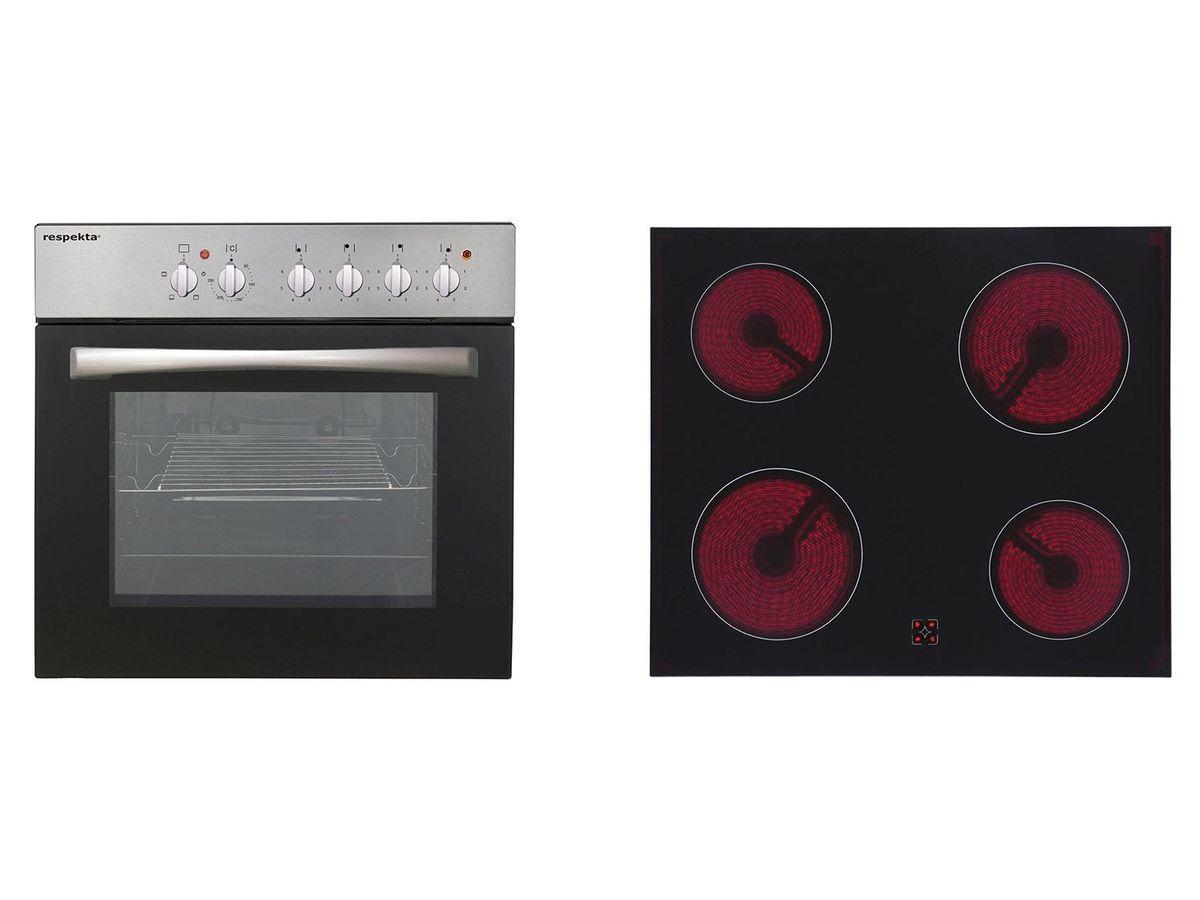 Bild 1 von respekta Einbauherd-Set Basic Set AN mit Glaskeramikkochfeld