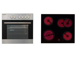 respekta Multifunktions-Einbauherd-Set Mega Set 2 AN mit Glaskeramikkochfeld