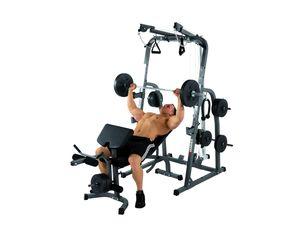 HAMMER Hantelbank SOLID XP mit 76 kg Gewichte-Set