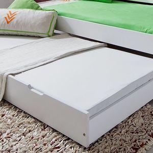 Bettkasten - Buche massiv - Weiß, Relita