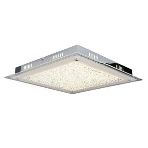 EEK A+, LED-Deckenleuchte - Metall/Glas - Silber, Näve