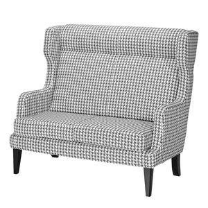 Sofa Grenfell (2-Sitzer) - Strukturstoff - Weiß / Grau, Morteens