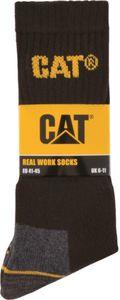 CAT Caterpillar Arbeitssocken - 3er schwarz Gr. 41-45