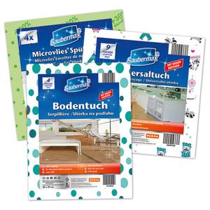 Saubermax Microvlies-Spültuch / Universaltuch / Bodentuch