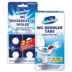 Saubermax WC-Reiniger Tabs / Wasserkastenspüler 2in1