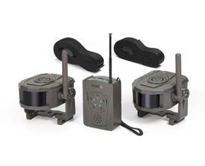 Wireless Security Set Outdoor, Empfänger und 2 Sensoren zur Bewegungserkennung Technaxx