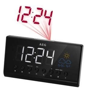 Projektions-Uhrenradio MRC 4141 P mit großem LED-Display, grafischer Wetteranzeige und UKW-Radio AEG Haustechnik