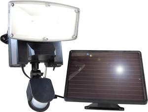 LED Außenleuchte mit Bewegungsmelder, Solarbetrieb, IP44 Wetelux