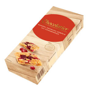 Chocolatier             Mandel-Erdnuss-Gebäck mit Cranberries, 110g                 (2 Stück)