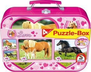 Schmidt Puzzle-Box im Metallkoffer Pferde