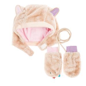Baby Set Mütze & Fäustlinge für Mädchen