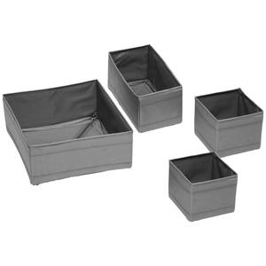 Aufbewahrungsboxen-Set Tina Grau 4er Set