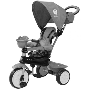 QPlay - Dreirad Comfort 3in1, grau