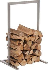 exklusiver Edelstahl-Kaminholzständer SIDONE, rostfreie & robust, bis zu 6 Größen wählbar