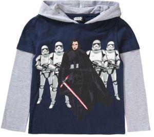 Star Wars Langarmshirt mit Kapuze Gr. 116/122 Jungen Kinder
