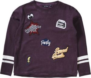 Sweatshirt mit Patches Gr. 140 Mädchen Kinder