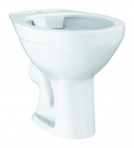 Grohe Stand-WC spülrandlos Abgang waagrecht weiß ,  weiß