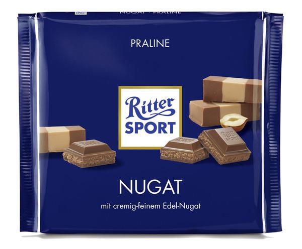 Ritter Sport Nugat Schokolade große Tafel 250 g