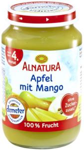 Alnatura Bio Apfel mit Mango, nach dem 4. Monat 190 g