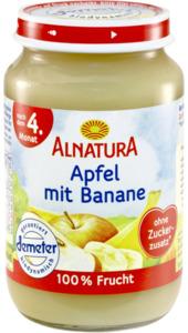 Alnatura Bio Apfel mit Banane ab 4. Monat 190 g