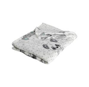 Liegelind Kinder-Schlafdecke mit Panda-Motiven, ca. 100x150cm