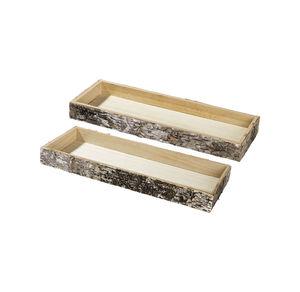 Deko-Holzplatte mit Rinde an den Seiten, verschiedene Größen