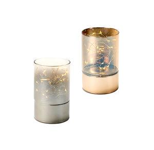 Ambientelicht aus Glas, ca. 9x15cm
