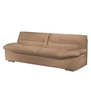 Sofa Doug (3-Sitzer) - Echtleder - Latte Macchiato - Cappuccino, Cotta