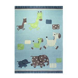 Teppich ESPRIT Lucky Zoo - Blau/Bunt - 170 x 240cm, Esprit Home