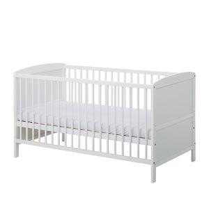 Babybett Conny - Kiefer massiv - Weiß, Schardt