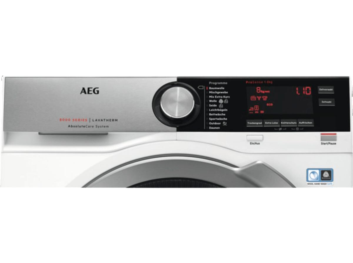 Bild 2 von AEG T8DE86685 8000er Serie, 8 kg Wärmepumpentrockner, A+++, Weiß/Silber