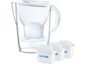 BRITA Marella weiß inkl. 3 MAXTRA+, Tischwasserfilter, MAXTRA+, Weiß