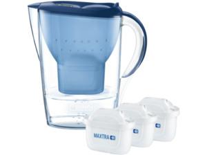 BRITA Marella blau inkl. 3 MAXTRA+, Tischwasserfilter, MAXTRA+, Blau