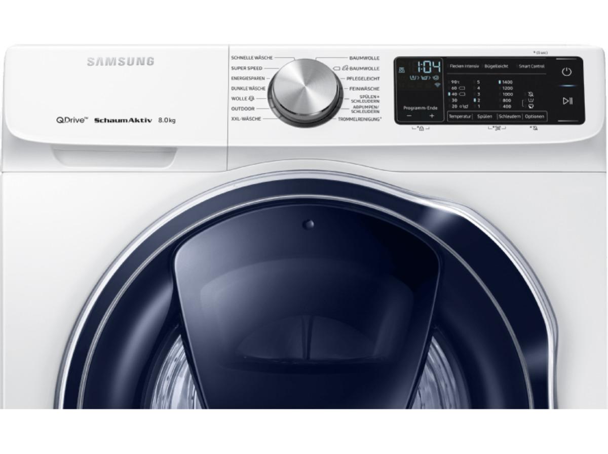 Bild 5 von SAMSUNG QuickDrive™  WW81M642OPW/EG QuickDrive, 8 kg Waschmaschine, Frontlader, 1400 U/Min., A+++, Weiß