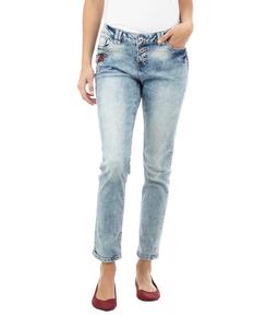 Damen Acid Washed Slim Fit 5-Pocket-Jeans