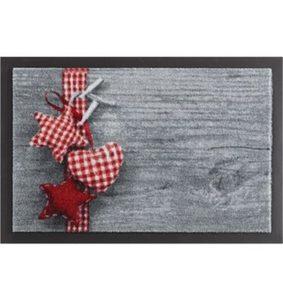Fußmatte »Stern mit Herz«, HANSE Home, rechteckig, Höhe 7 mm, rutschhemmend beschichtet