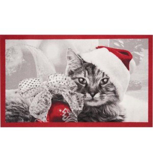 Fußmatte »Christmas Cat«, HANSE Home, rechteckig, Höhe 7 mm