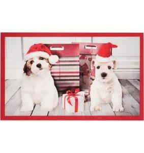 Fußmatte »Christmas Dogs«, HANSE Home, rechteckig, Höhe 7 mm