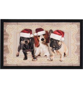 Fußmatte »Christmas Dogs II«, HANSE Home, rechteckig, Höhe 7 mm