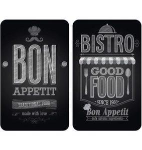 Wenko Herd-Abdeckplatte, 2er Set, »Bon Appetit«