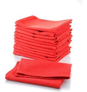 Stoffservietten-Set in Uni-Rot, 12-teilig