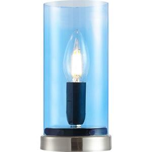 NINO Retrofit Tischlampe LAIK Glas Blau