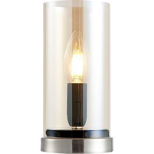 NINO Retrofit Tischlampe LAIK Glas Amberbraun