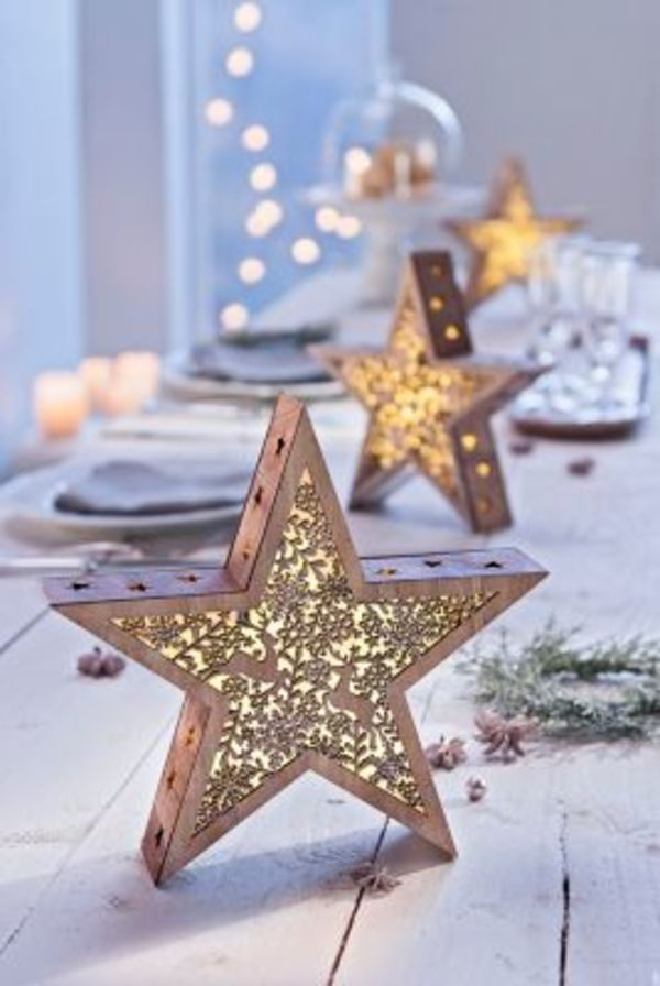 "LED-Sterne ""Wintertime"", 2er-Set"