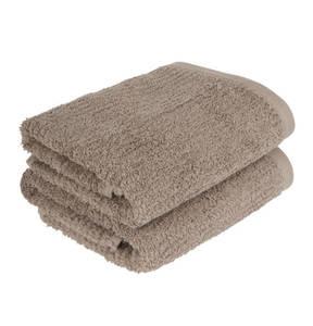 Essential needs             Handtuch, 2er-Pack, Hochtief-Optik, schnelltrocknend, 100 % Baumwolle, 41 x 71 cm