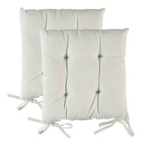 Essential needs             2er Pack Stuhlkissen, ca. 38 x 38 cm, 100 % Baumwolle, Füllung: 100 % Polyester