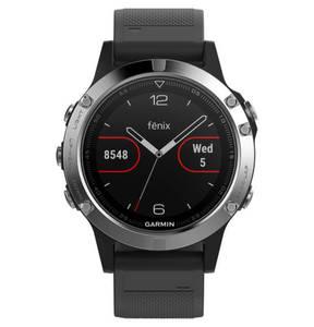 """GARMIN        Smartwatch """"fenix 5 Glass"""" schwarz / silber 010-01688-03"""