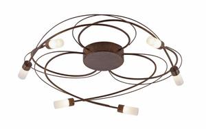 Paul Neuhaus - LED-Deckenleuchte Nelia in rostfarbig, 60 cm