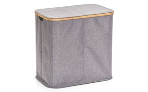 Zeller - Wäschesammler in grau, 2-Fächer